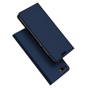 DUX DUCIS Skin Pro Series Leather Mobile Phone Case for Huawei Y5 (2018) / Y5 Prime (2018) / Honor 7s / Play 7 - Dark Blue