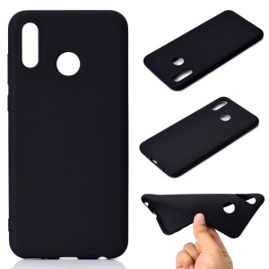 Solid Color Matte Soft TPU Phone Casing for Huawei Honor Play - Black