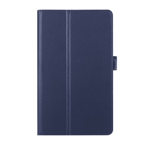 Lychee Skin Leather Protective Case for Huawei MediaPad M2 8.0 - Dark Blue
