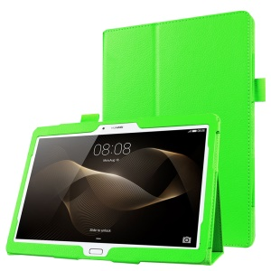 Litchi Skin Leather Stand Cover Case for Huawei MediaPad M2 10.0 - Green