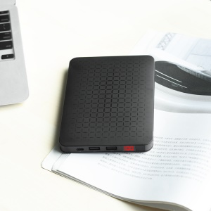 HOCO J29B 20000mAh Cool Square 2 USB Ports Power Bank Battery Charger with Double Inputs - Black