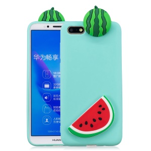 3D Animal Pattern Printing TPU Phone Accessory Case for Huawei Y5 (2018) / Y5 Prime (2018) / Honor Play 7 / Honor 7s - Watermelon