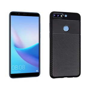 Geometry Pattern TPU Case for Huawei Honor 7C / Y7 Prime (2018) / Y7 (2018) / Y7 Pro (2018) / nova 2 lite / Enjoy 8 - Black