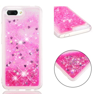 Glitter Powder Quicksand Shockproof TPU Cell Phone Case for Huawei Honor 10 - Rose