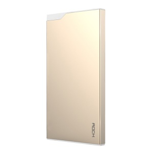 ROCK 5000mAh Dual USB Mobile Power Charger with Type-C Port - Gold