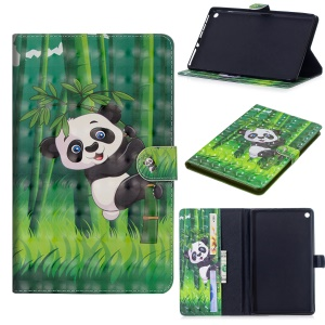 Pattern Printing Smart Leather Wallet Cover with Stand for Huawei MediaPad M5 10 / M5 10 (Pro) - Panda