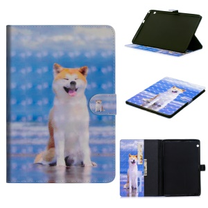 Light Spot Decor Patterned Stand Leather Wallet Smart Case for Huawei MediaPad T3 10 - Dog