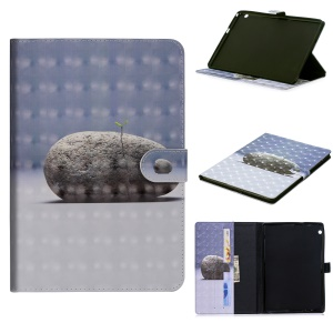 Light Spot Decor Patterned Smart Leather Wallet Case with Stand for Huawei MediaPad T3 10 - Stone