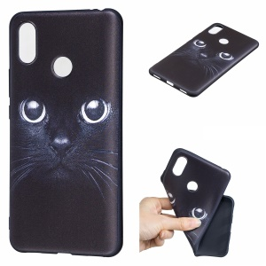 Pattern Printing Embossed TPU Mobile Case for Xiaomi Mi Max 3 Pro - Cat