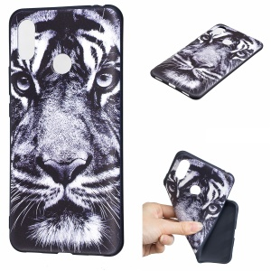 Pattern Printing Embossed TPU Cell Phone Shell for Xiaomi Mi Max 3 Pro - Tiger