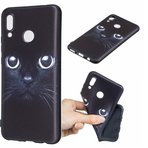 Pattern Printing Embossed TPU Protection Case for Huawei nova 3 - Cat