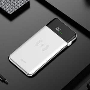 D-POWER S8+ Qi Wireless Charger Mat 10000mAh QC 3.0 Power Bank for iPhone 8/Samsung Galaxy S8 etc