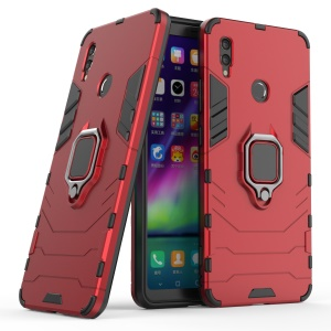 PC TPU Hybrid Phone Cover [with Finger Ring Kickstand] for Huawei Honor Note 10 - Red
