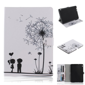 Pattern Printing PU Leather Smart Cover [with Stand Wallet] for Huawei MediaPad T3 10 - Dandelion Pattern