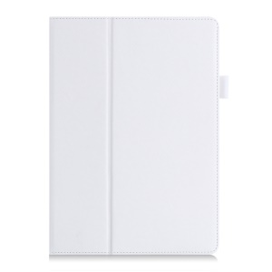 Leather Cover with Elastic Hand Strap for Huawei MediaPad M2 10.0 - White