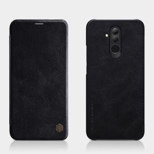 NILLKIN Qin Series PU Leather Card Holder Phone Case for Huawei Mate 20 Lite / Maimang 7 - Black
