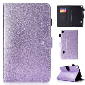 Flash Powder PU Leather Tablet Casing Cover for Huawei MediaPad T3 7 WiFi Version - Purple