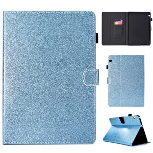 Flash Powder PU Leather Tablet Casing Cover for Huawei MediaPad T3 10 / Huawei Honor Play Pad 2 9.6-inch - Blue
