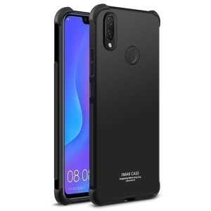 IMAK Huawei nova 3i / P Smart+ Smooth Feel Anti-drop Soft TPU Case + Explosion-proof Screen Film - Metal Black