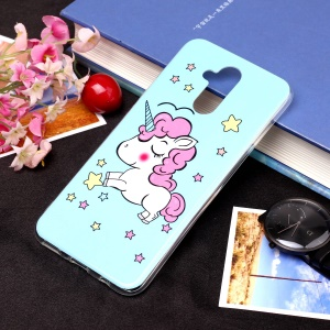 Noctilucent IMD TPU Cell Phone Case for Huawei Mate 20 Lite / Maimang 7 - Style E