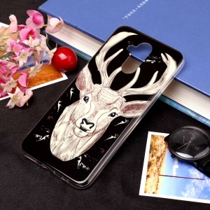 Noctilucent IMD TPU Cell Phone Case for Huawei Mate 20 Lite / Maimang 7 - Style L