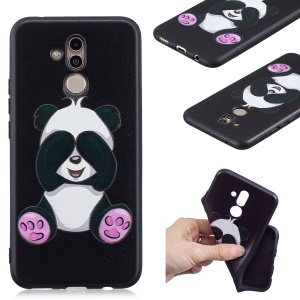 Embossing TPU Back Cover for Huawei Mate 20 Lite / Maimang 7 - Lovely Panda