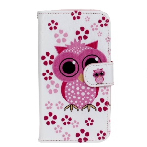 Leather Wallet Phone Case for Huawei Y5 Y560 - Adorable Owl