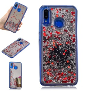 Glitter Floating Quicksand Mirror Surface TPU Mobile Case for Huawei nova 3 - Silver