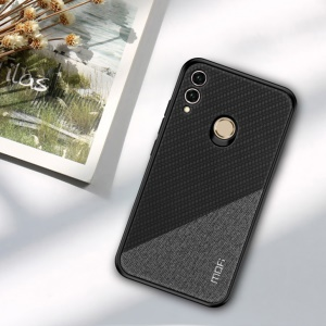 MOFI Honor Series Bi-color Splicing Woven Texture PU Leather Coated PC + TPU Hybrid Anti-slip Case for Huawei Honor 8X / Honor View 10 Lite - Black