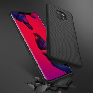Twill Texture TPU Back Mobile Cover for Huawei Mate 20 Pro - Black