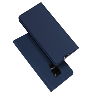 DUX DUCIS Skin Pro Series Auto-absorbed PU Leather Card Holder Casing for Huawei Mate 20 - Dark Blue