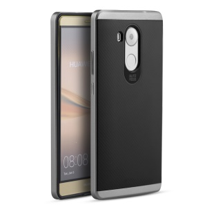 IPAKY PC Bumper Frame and TPU Hybrid Phone Case  for Huawei Mate 8 - Grey