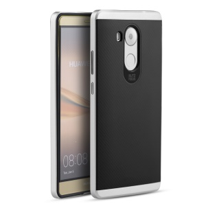 IPAKY PC Bumper Frame and TPU Hybrid Shell Cover for Huawei Mate 8 - Silver
