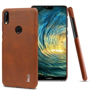 IMAK Ruiyi Series Leather Skin PC Phone Back Phone Case for Huawei P20 Lite / Nova 3e (China) - Brown