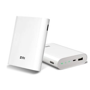 ZMI MF855 4G Wirless Wifi Repeater Router Mobile Hotspot 7800mAh External Battery Power Bank - White
