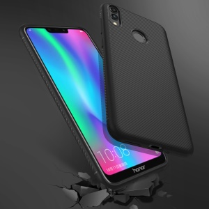 Jazz Series Twill Texture TPU Case for Huawei Honor 8C - Black