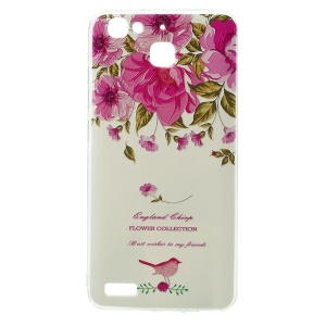 Softlyfit Embossing Pattern Printing Slim TPU Case for Huawei Enjoy 5s - Garden Rose