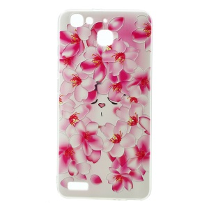 Softlyfit Embossing Pattern Printing TPU Cover for Huawei Enjoy 5s / GR3 - Blooming Plum Blossom