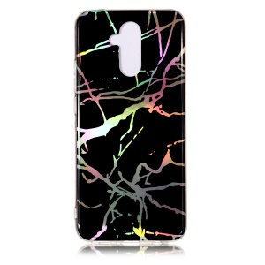 Marble Pattern Plated IMD TPU Case for Huawei Mate 20 Lite / Maimang 7 - Black