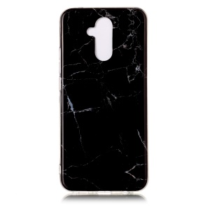 Marble Pattern Printing IMD TPU Phone Case for Huawei Mate 20 Lite / Maimang 7 - Black