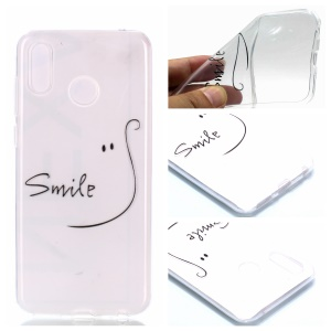 Pattern Printing TPU Protection Case for Huawei Honor Play - SMILE Pattern