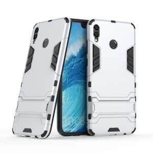 Cool Guard Kickstand Hybrid PC TPU Protective Casing for Huawei Honor 8X Max - Silver