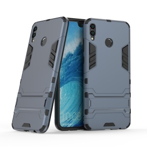 For Huawei Honor 8X Max Cool Guard Hybrid PC TPU Cellphone Case with Kickstand - Dark Blue