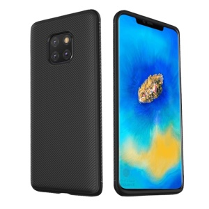LENUO Twill Texture TPU Case for Huawei Mate 20 Pro - Black