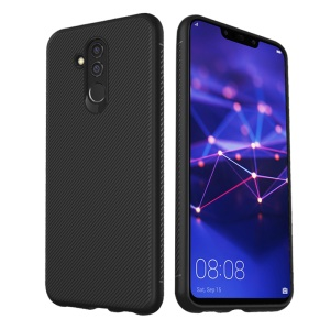 LENUO Twill Texture TPU Case for Huawei Mate 20 Lite - Black