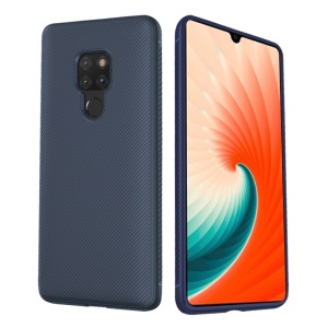 LENUO Twill Texture TPU Cover Case for Huawei Mate 20 - Dark Blue