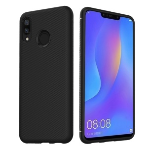 LENUO LeShen Series Twill Texture TPU Protection Case for Huawei nova 3i / P Smart Plus - Black