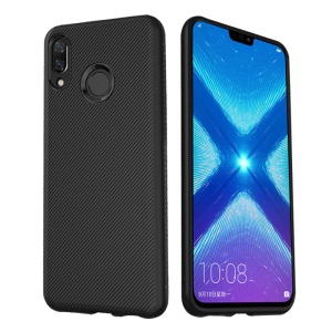 LENUO LeShen Series Twill Texture TPU Soft Case for Huawei Honor 8X / Honor View 10 Lite - Black