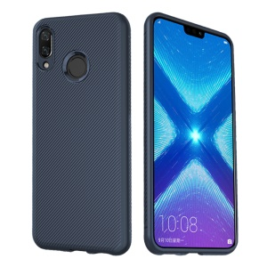 LENUO LeShen Series Twill Texture TPU Shell for Huawei Honor 8X - Dark Blue
