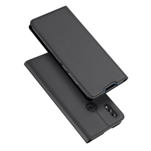 DUX DUCIS Skin Pro Series Card Holder Stand Leather Mobile Case for Huawei Honor 8X - Dark Grey